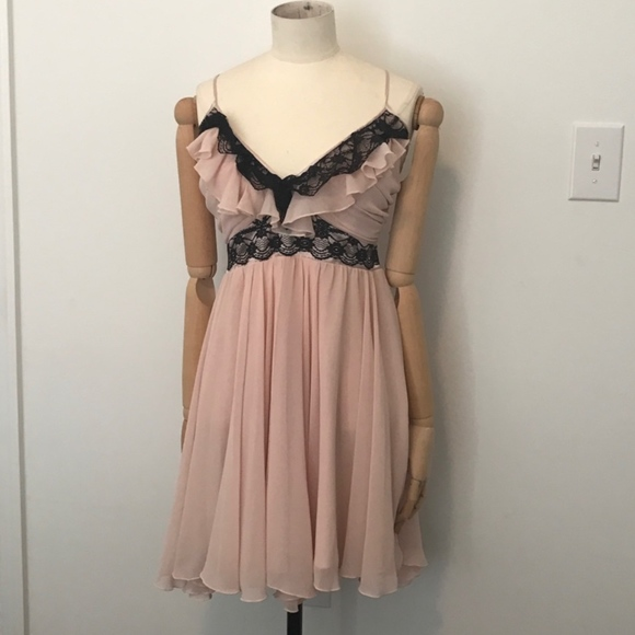 Lipsy London Dresses Pink And Black Lace Dress Poshmark